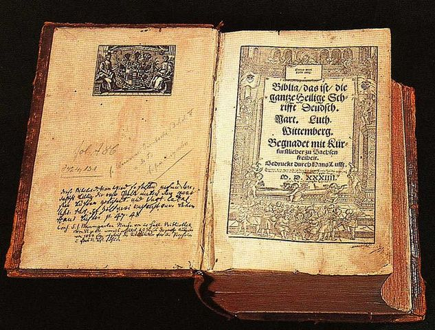 Martin Luther and the revolution of the German Language.