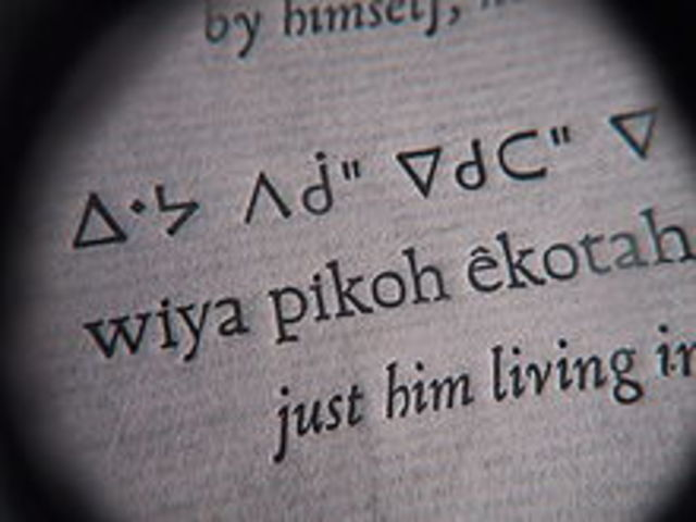 The Cree Alphabet is created