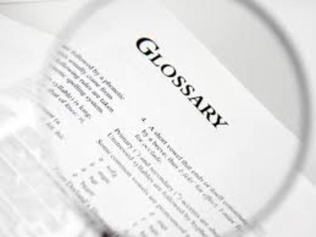 The invention of the Glossary