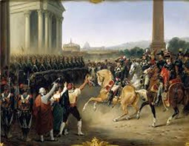 Napoleon becomes the General of the French Armies in Italy