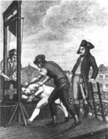Maximilian Robespierre's Death