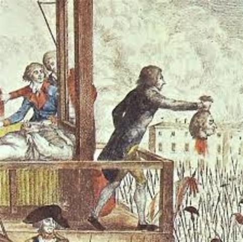 King Louis XVI is Beheaded