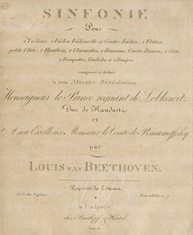 Ludwig van Beethoven,(1770-1827) German composer and pianist, regarded by many as the first Romantic-era composer