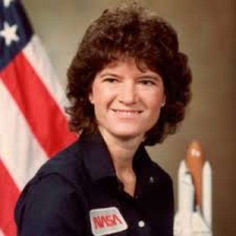 Astronaut Sally Ride becomes the first American woman to travel into space.
