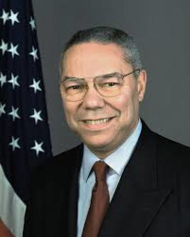 Collin Powell becomes Chairman of the Joint Chiefs of Staff