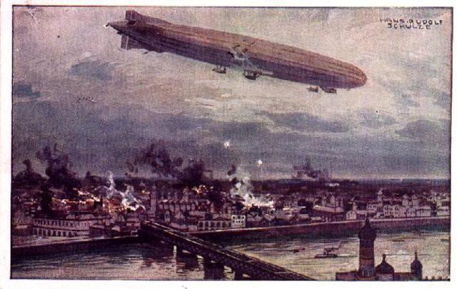 The zeppelin bombing