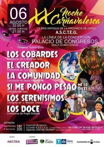 Noche Carnavalesca en la Línea de la Concepción