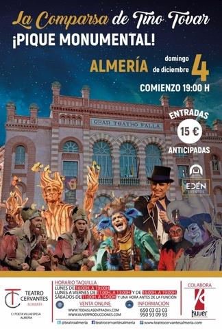 Pique Monumental , la Comparsa de Tino Tovar en el Teatro Cervantes de Almería.