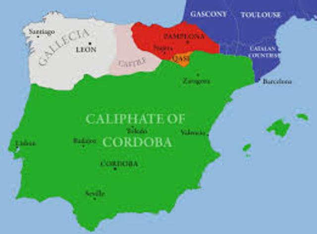 Start of the Islam governance in Spain