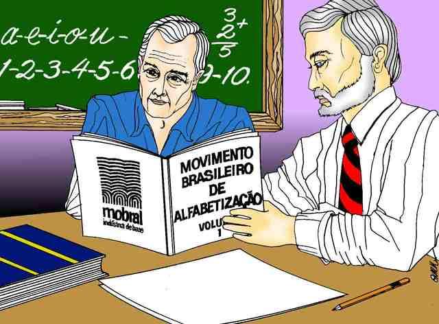 O regime militar institui o Movimento Brasileiro de Alfabetização
