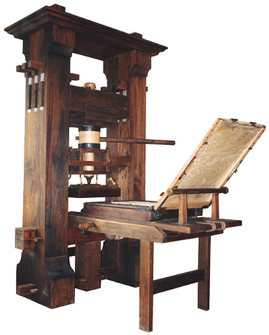 Gutenberg creates the printing press