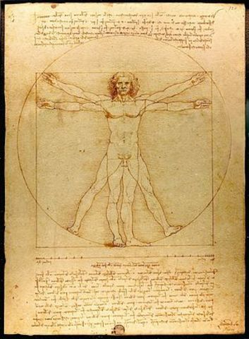 Vitruvian Man by Leonardo DaVinci