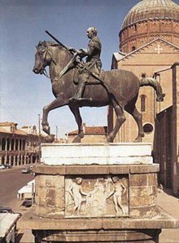 The Equestrian Statue of Gattamelata by Donatello
