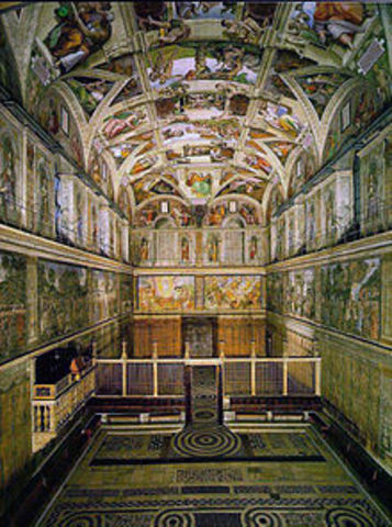 Sistine Chapel (architecture and painting) by Michelangelo (and others)