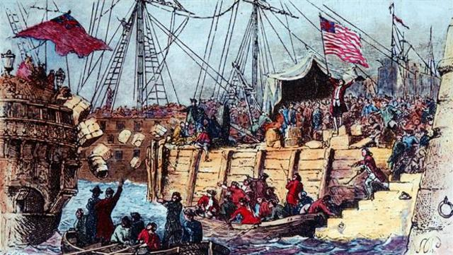 Boston 's Tea Party contribution to colonial unrest
