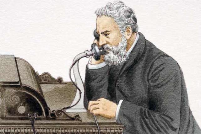 Invención del teléfono.