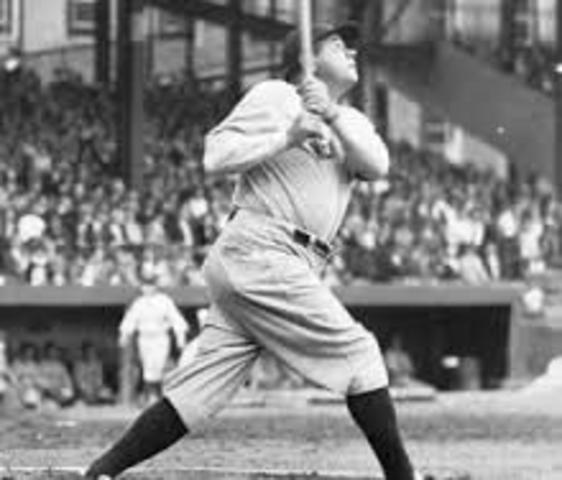 Babe Ruth hits 60 home-runs