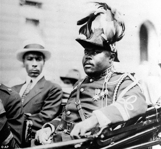 Marcus Garvey participates in Negro People of the World Parade