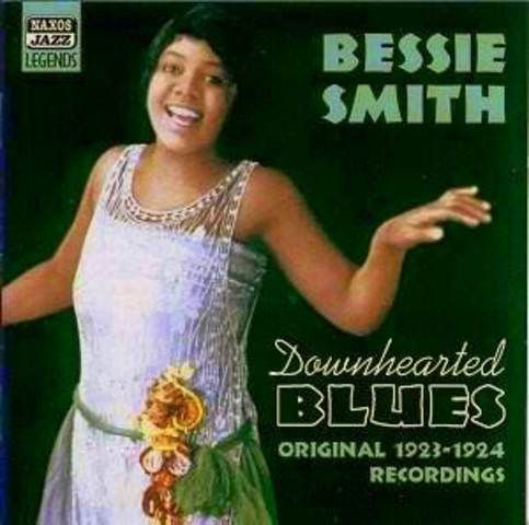 """Bessie Smith sell's a million recording of """"Down Hearted Blues"""""""