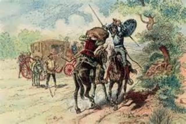 Don Quijote se enfrenta a El Vizcaíno