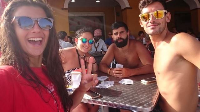 PRIMER CAFÉ EN GETARES - VIAJE A ALGECIRAS