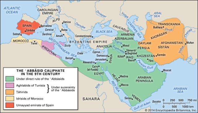 Abbasids take control of the Umayyads