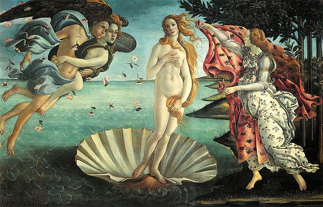 Botticelli paints The Birth of Venus