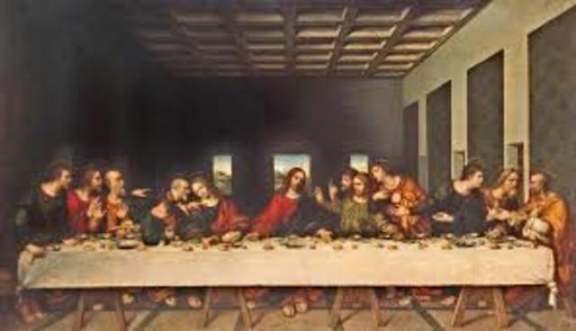 Da Vinci paints Da Vinci paints The Last Supper