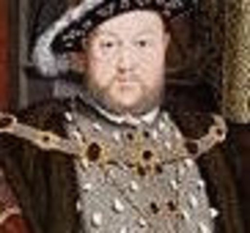 Henry VIII becomes the king of England