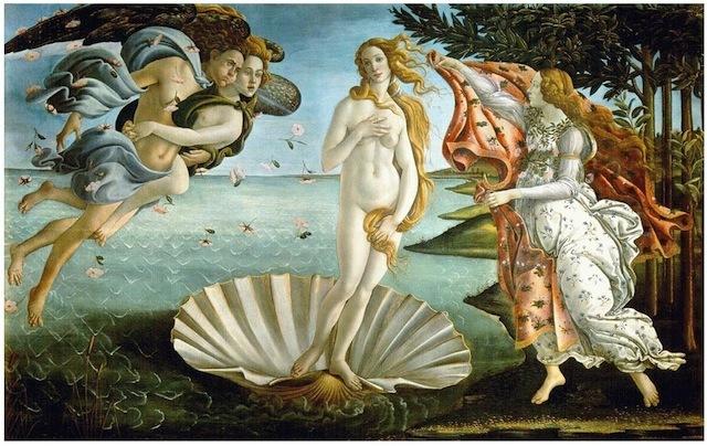 Botticelli completes the Birth of Venus