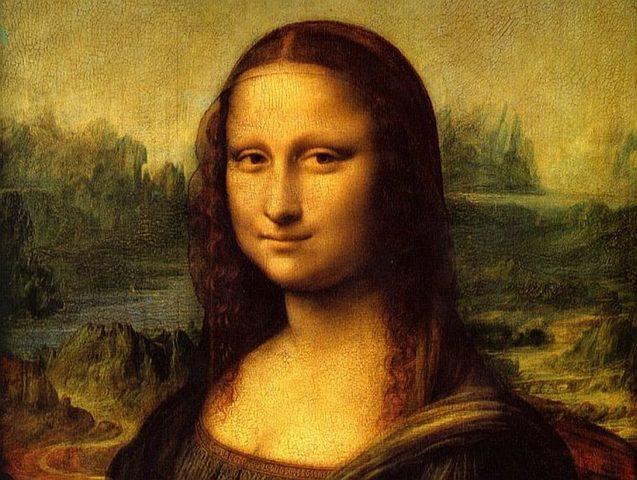 Da vinci paints the Mona Lisa