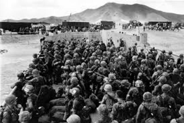 American Troops Greatly increase