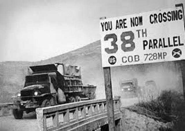 North Korea crosses the 38th Paralllel
