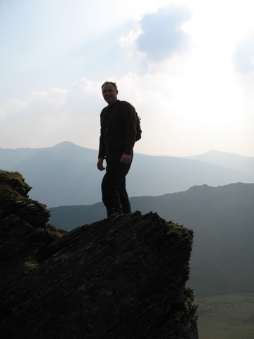 Me on rock above Crummock Water and Buttermere