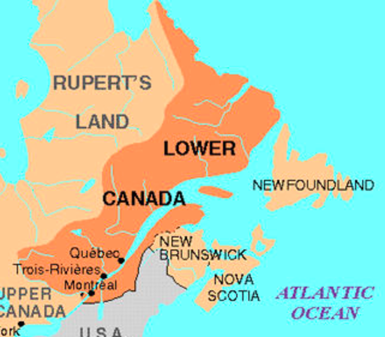 Populations in Lower and Upper Canada