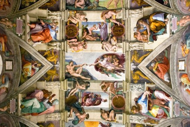 Michelangelo begins painting the ceiling of the Sistine chaple
