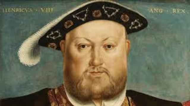Henry V111 becomes king of England