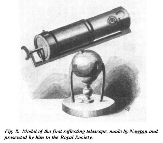 Newton Invents First Reflecting Telescope