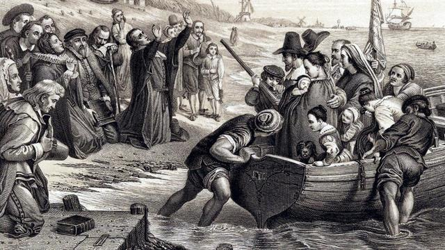 Settlement of Massachusetts Bay Colony and Four Major Colonies Unite