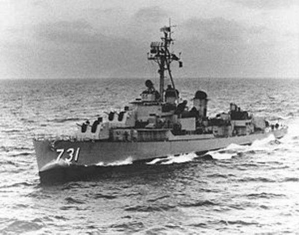 North Vietnamese Torpedo Destroys US Destroyer-Vietnam