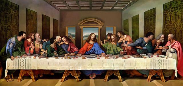 Da Vinci Finishes The Last Supper