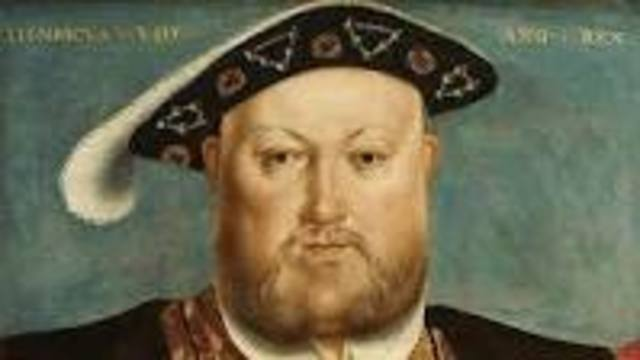 Henry the eighth becomes king of England