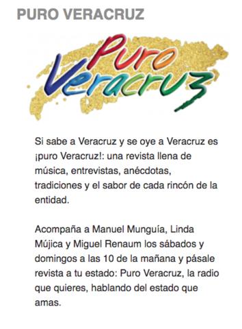 """Entrevista en """"Puro Veracruz"""""""