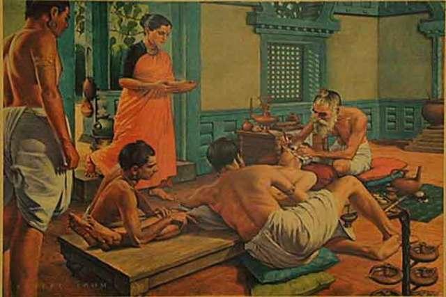 Начало развития хирургии (Древняя Индия)