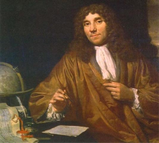 Изобретение А. Левенгуком (1632-1723) микроскопа