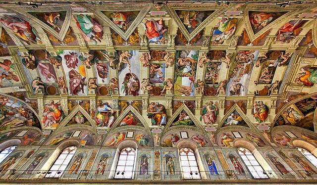 Michelangelo Begins Painting he Ceiling of the Sistine Chapel