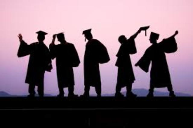 I graduate from secondary school.