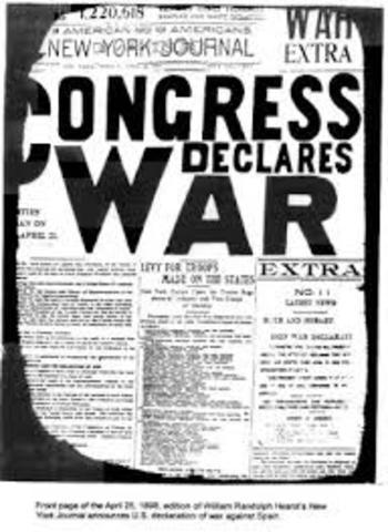 Declaración de guerra de EEUU contra España