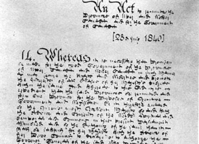 Signature of the Act of Union