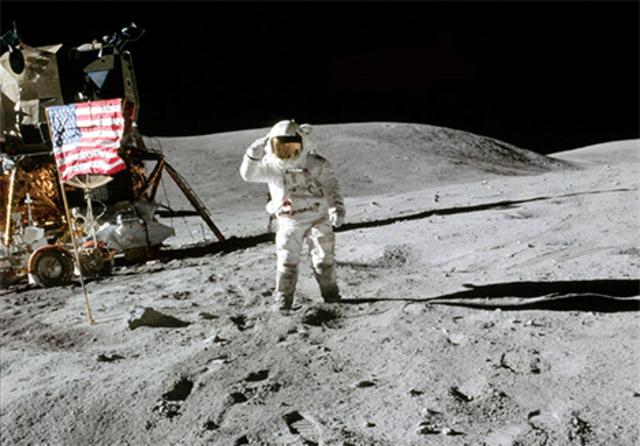 1969- Apollo 11 lands on the moon